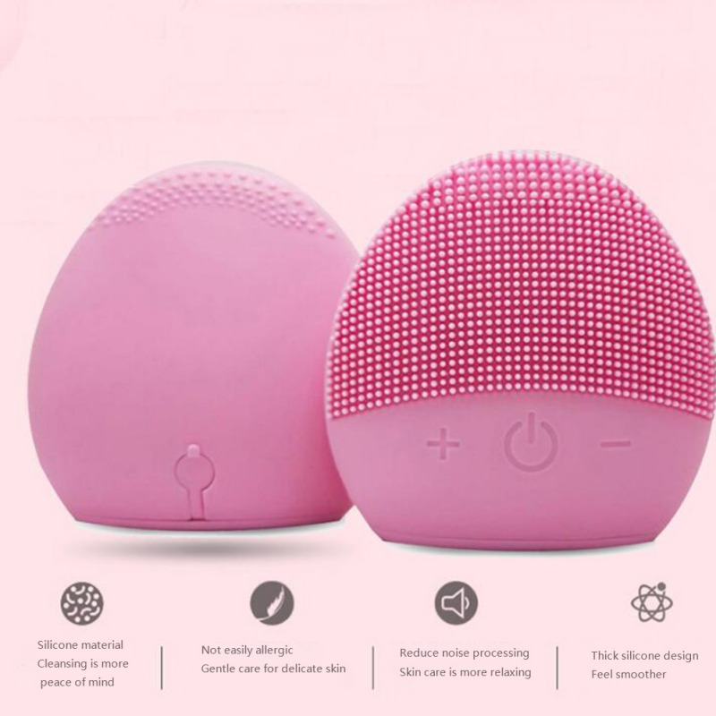 Face Cleaning Brush Usb Charging Facial Cleansing Brush Mini Electric Massage Brush Deep Pore Cleaning Exfoliating