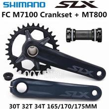 Shimano Deroe Slx Fc M7100 Guarnitura M7100 12 Velocità di 30T 32T 34T 170 Millimetri 175 Millimetri hollowtech Ii Mtb Guarnitura