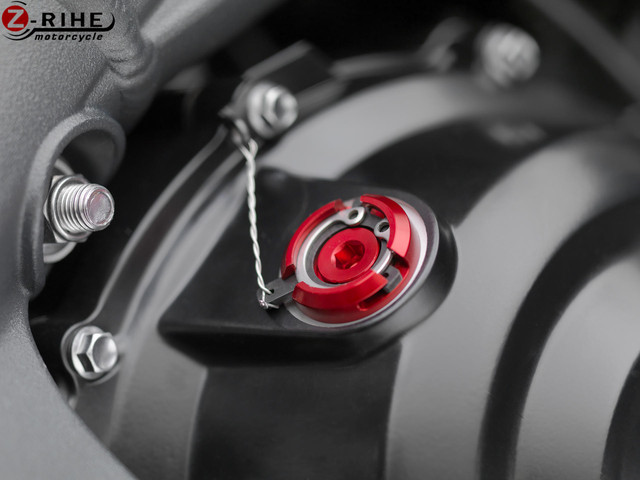 Motorcycle Accessories M20*2.5 red Engine Oil Filler Cap CNC Filler Cover Screw Moto for DUCATI  MONSTER 821 2014 2015 2016 2017