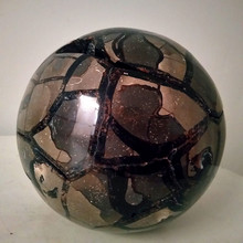 A giant natural  geode crystal Septarian stone Dragon sphere ball perfect cluster stones and crystals combination