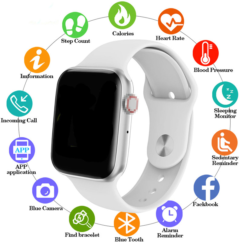 44mm Smart Watch Series 4 Clock Push Message Bluetooth Connected For IOS apple iPhone 6 <font><b>7</b></font> 8 X <font><b>Smartwatch</b></font> pk <font><b>iwo</b></font> 10 Android phone image