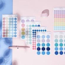 Journamm 120pcs dot Morandi earth color scrapbook album photo wall journal project making happy card decoration sealing stickers
