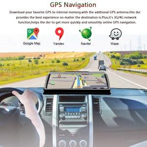 """Image 3 - WHEXUNE 2019 yeni 4 kanal araba dvrı Dashcam 4G ADAS Android 10 """"merkezi konsol aynası GPS WiFi FHD 1080P arka Lens Video kaydedici"""