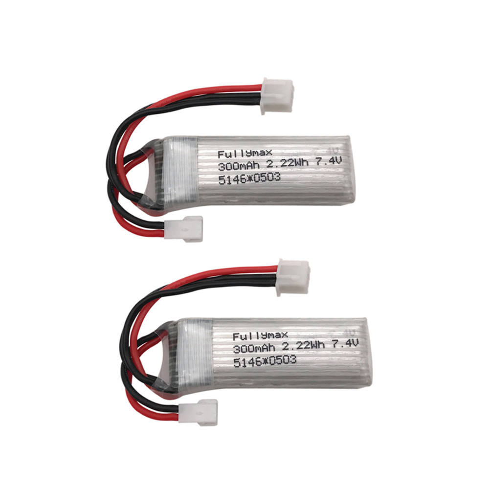 2pcs <font><b>7.4V</b></font> <font><b>300mAh</b></font> 30c Li-Po <font><b>Battery</b></font> For WLtoys F959 XK DHC-2 A600 RC Airplane Spare Parts wholesale image