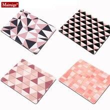 Розовый коврик для мыши с мраморными бриллиантами и геометрической