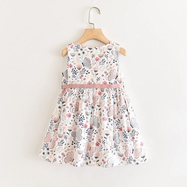 Robe dété pour filles | Tenue de princesse, motif Floral, motif papillon, vêtements de fête, nouvelle collection