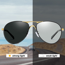 Aviation Photochromic Polarized Sunglasses For Mens Driving