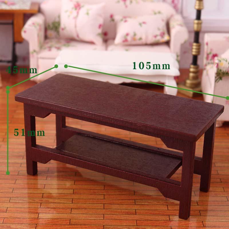 1 12 Dollhouse Miniature Retro Wooden Coffee Table Diy Furniture Toys Accessories Aliexpress