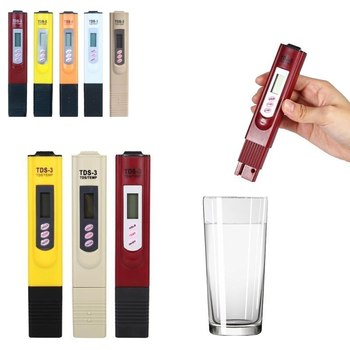Digital LCD PH Meter Pen Of Tester Accuracy 0.1 Aquarium Pool Water Wine Automatic Calibration Water Quality  Test Tool 5 step calibration test block