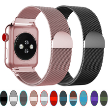 Milanese Loop strap For apple watch band 44 mm 40mm iWatch band 38mm 4