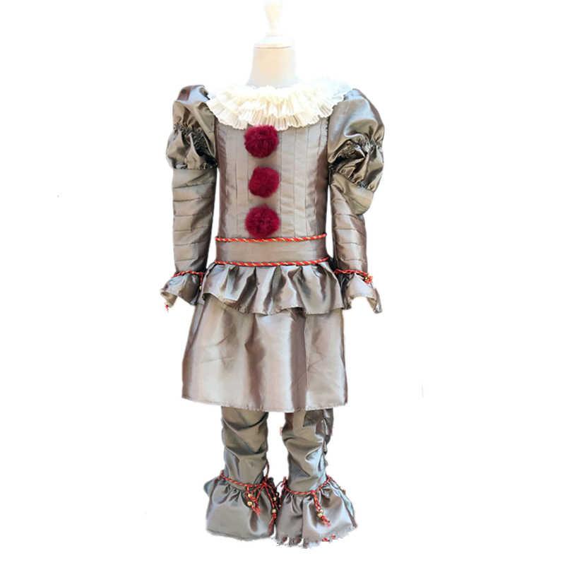 I bambini 2019 Stephen King E 2 È: capitolo Due Pennywise Cosplay Costume Outfit Vestito Da Clown per Bambini di Halloween di Carnevale Del Partito