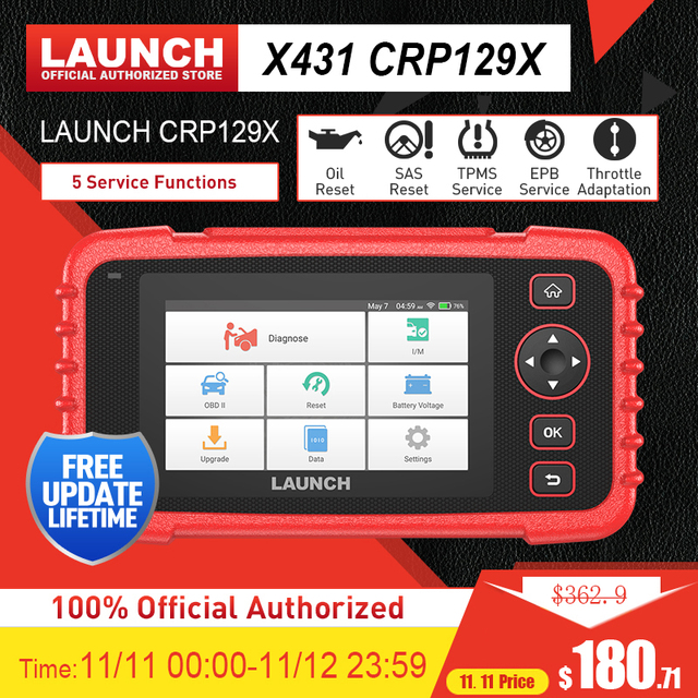 Запустите X431 CRP129X обд сканер для авто диагностика авто сканер для диагностики авто Auto Code Reader OBD2 Диагностический инструмент OBD2 Сканер AutoVIN Сканер Automotivo Диагностический сканер PK CRP129E