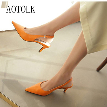 Women Sandals Shoes Female Thin High Heels Flock Point Toe Sandals Summer Casual Woman Pumps Party Fashion Large Size 2020 New
