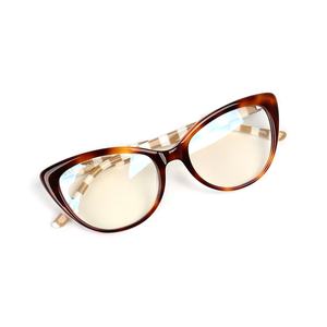 Image 3 - 2018 New Design Handmade Acetate Glasses Fashion Colors EyeWear Frames for Young Women Girls Round Luxury Spectacle Prescription