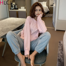 2020 New Women Pajamas Sets Spring Long Sleeve Cotton Cute Sleepwear Girl Pijamas Mujer Leisure Nightgown Adult Clothes Homewear