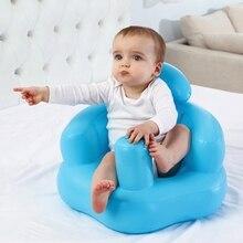 Tragbare Baby Lernen Sitz Aufblasbare Bad Stuhl PVC Sofa Dusche Hocker für Spielen 4XFE