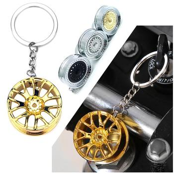 Creative Gift Stereo Car Modification Accessories Wheel Pendant Advertising Key Chain Ring Waist Metal Keychain Ring M6Y2 image