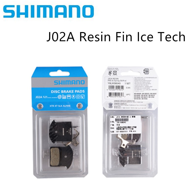 <font><b>Shimano</b></font> J02A Resin Fin ICE-TECH J04C metal Fin ICE-TECH Disc <font><b>Brake</b></font> Pads for M6000 <font><b>SLX</b></font> <font><b>M7000</b></font> Deore XT M785 M8000 XTR M9000 image
