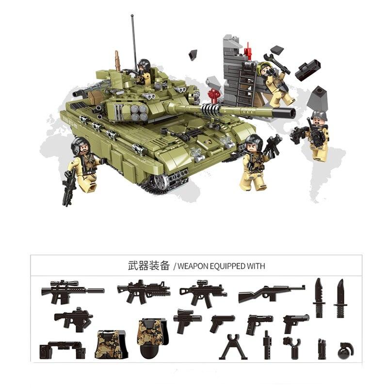 1386Pcs XINGBAO Building Blocks XB-06015 Compatible легоe Tank Cross The Battlefield Series Ww2 Tank Model Gift To Children