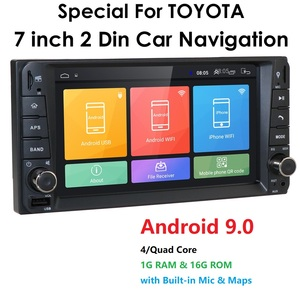 7'' 1024*600 Car Stereo Player Radio Multimedia GPS Navi for toyata VIOS CROWN CAMRY HIACE PREVIA COROLLA RAV4 mirrorlink no DVD