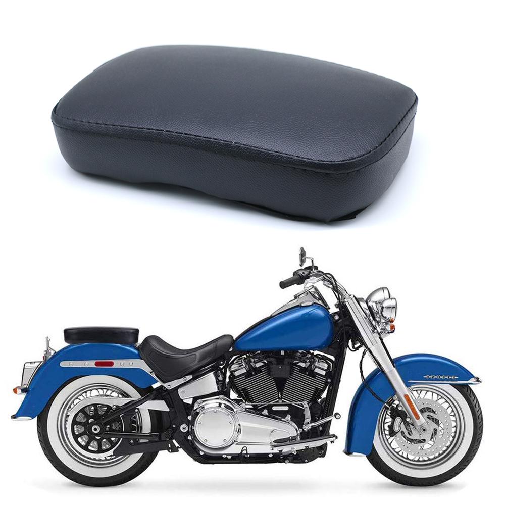 Motorcycle <font><b>Seat</b></font> Cushion Pad Rectangular Passenger Suction Cup <font><b>Seat</b></font> for Harley Sportser <font><b>Iron</b></font> XL <font><b>883</b></font> Cruiser Chopper Dyna Custom image