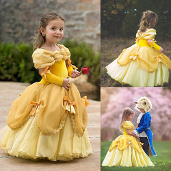 4-10 anos neve branca princesa vestido fantasia flor role-play roupas halloween carnaval neve rainha traje vestido para meninas