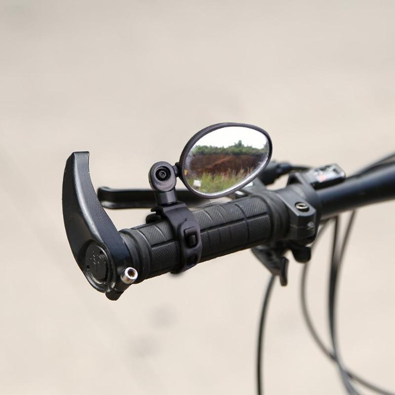 Bicycle Rear View Mirror 360 Degree Rotation MTB Mountain Road Bike Handlebar Rearview Plane Mirror Cycling Equipment Black