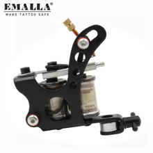EMALLA Black Coil Tattoo Machine 10 Wrap Coils Iron Tattoo Gun  Liner And Shader Tattoo Machine Equipment Tattoo Supplies tattoo machine gun shader equipment set page 2 page 3 page 1