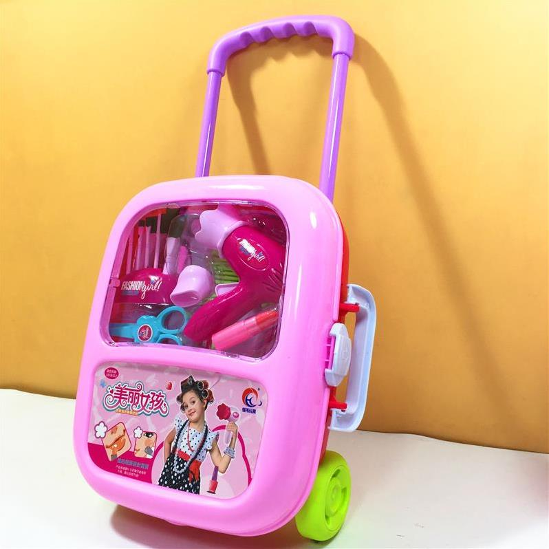 H1 Children's Toys Girl Makeup Box Simulation Play House Dressing Table Storage Box 3-6 Years Old Princess Birthday Gift Cheap