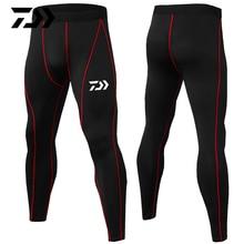 Daiwa летние спортивные штаны для фитнеса, брюки для тела, пэчворк, дышащие, анти-пот, для бега, езды на велосипеде, рыбалки, Тонкие штаны