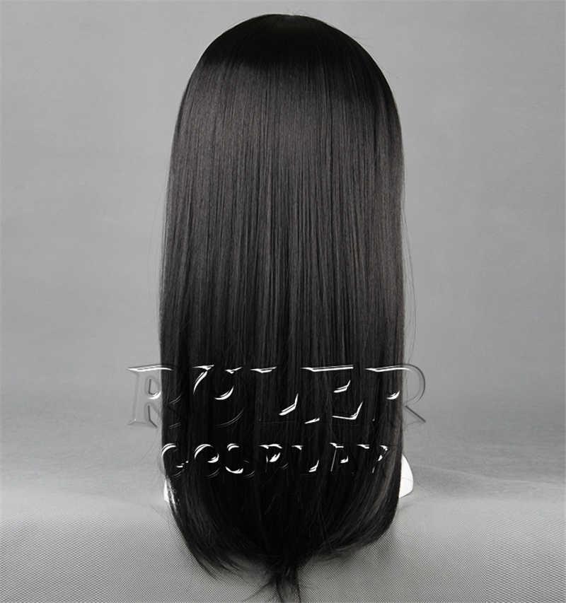 Haikyuu!! Volley-ball Kiyoko Shimizu 45cm de Long noir haute température fibre cheveux Cosplay déguisement perruque + filet à cheveux