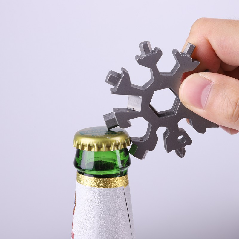 18-in-1 Multi-tool Portable Screwdriver, Wrench Spanner  Outdoor Snowflake Tool Card