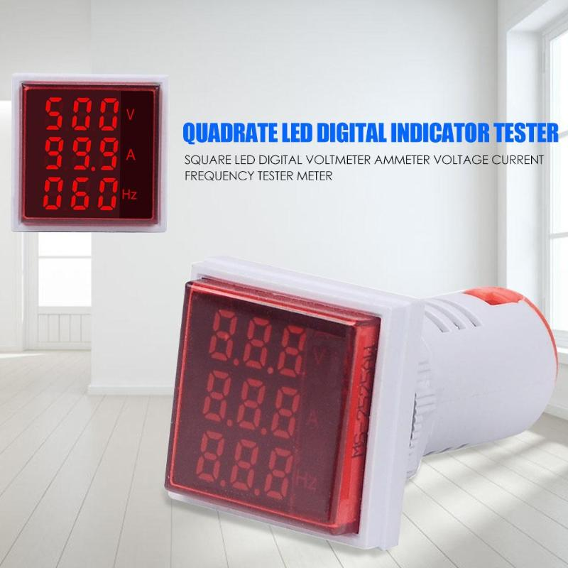 Square LED Digital Voltmeter Current Frequency Ammeter Small And Delicate Powerful Hertz Meter Signal Lights Voltage Meter