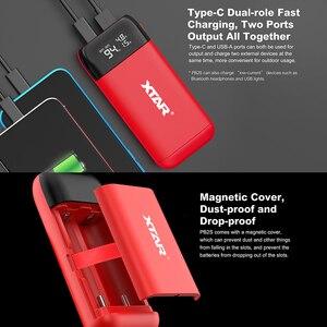 Image 5 - Зарядное устройство XTAR PB2S с USB, портативное зарядное устройство, вход Type C, быстрая зарядка QC3.0, 18700, 20700, 21700, зарядное устройство для аккумуляторов 18650