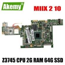 original for Lenovo MIIX 2 10 tablet motherboard DA0J02MBAI0 Z3745 CPU 2G RAM 64G SSD free shipping