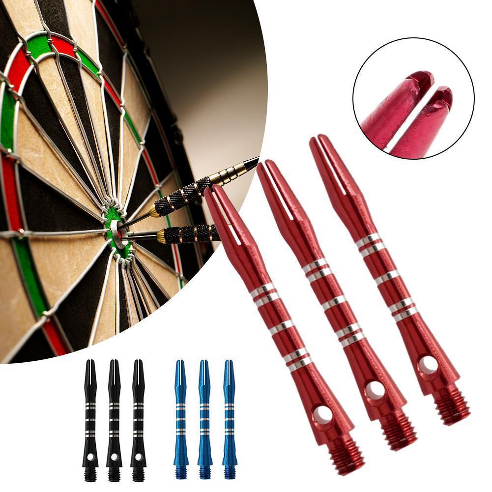 3 Pcs Color Engraved Aluminum Alloy Darts Rod 40mm Thread Short Metal Five-line 3 Accessories Rod Darts Darts Darts Colors D0M4