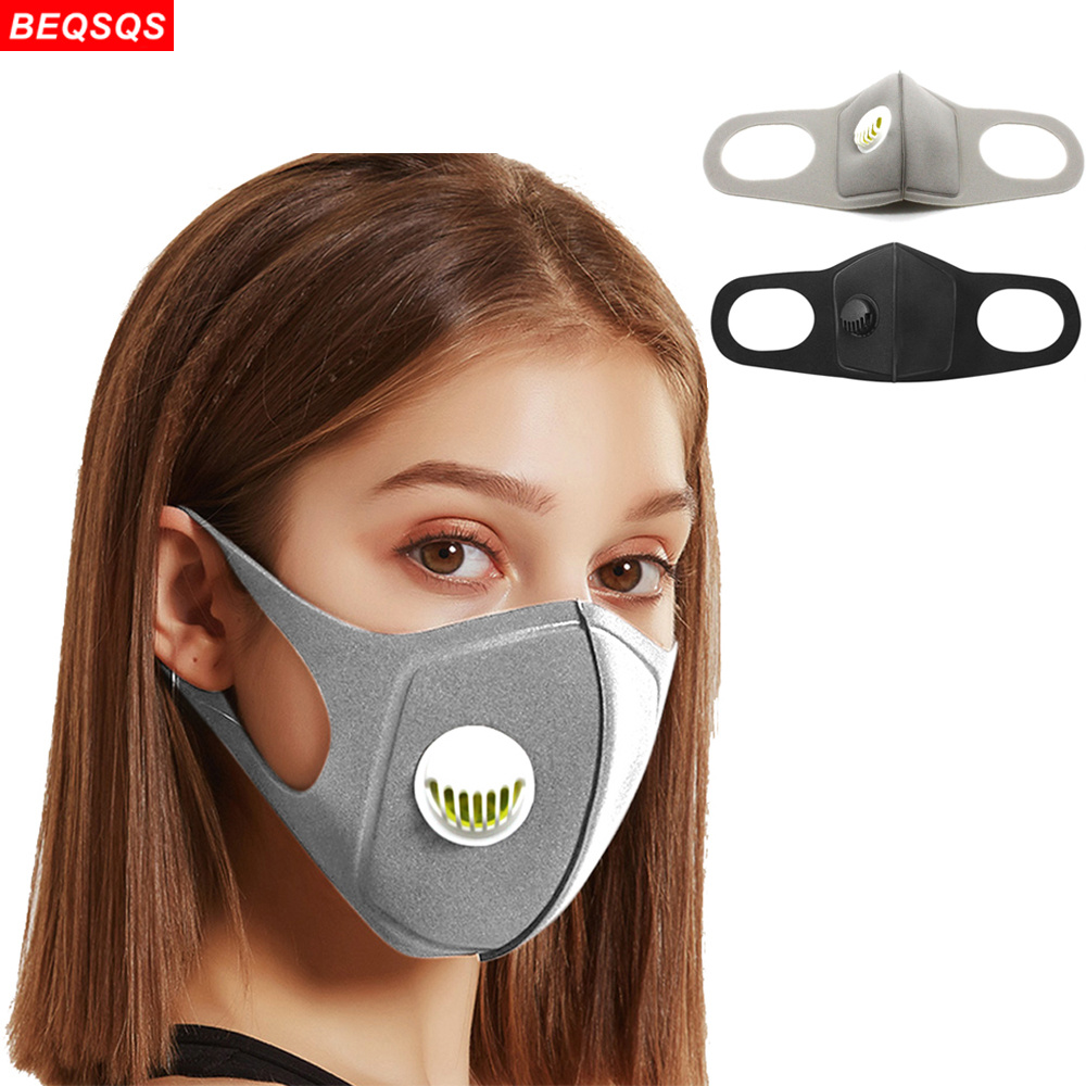 Fashion Respiratory Masks Upgraded Version Men & Women Pm2.5 Breathable Valve Mouth Face Mask Washable And Reusable Mouth Cover