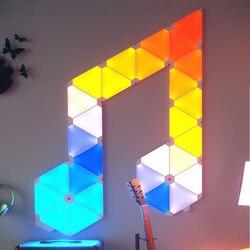 الأصلي Nanoleaf مثلث ليلة كامل اللون الذكية الغريب ضوء المجلس العمل مع Mijia لأبل Homekit جوجل المنزل مخصص الإعداد