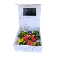 2GB storage Greeting Card 7INCH Flowers Video Box Mp4 PlayerMemory LCD Handmade Souvenir for Gift Birthday Wedding Invitation