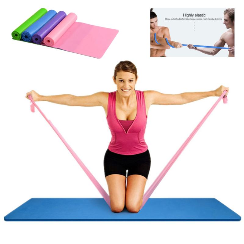 1.5m Yoga Resistance Bands FItness Natural Tension Health Elastic Resistance Yoga Belt Fitness Loop Bands Yoga Gymnastics Equip