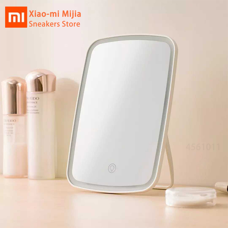 Original Xiaomi Mijia Jotun Judi Smart Portable Makeup Mirror Desktop Led Light Portable Folding Lamp Mirror Dormitory Desktop