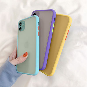 Mint Hybrid Simple Matte Bumper Phone Case For iPhone 12 11 11Pro Max XR XS Max 6S 8 7 Plus Shockproof Soft Silicone Clear Cover