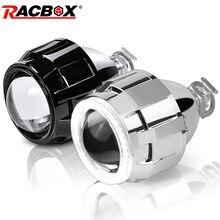 Mini projetor universal lente h4 e h7, lâmpada para substituição, modelo hid h1, 2.5 polegadas farol automotivo