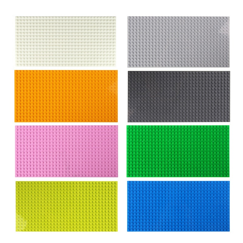 Legoing Classic Base Plates Plastic 16*32 Dots Building Blocks Toys Compatible Mini City Construction Toy For Children DIY Board