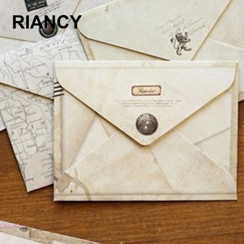 12 Pieces/lot  Mini Cute Ancien Paper Envelope Retro Vintage European Style For Card Scrapbooking Gift 03210