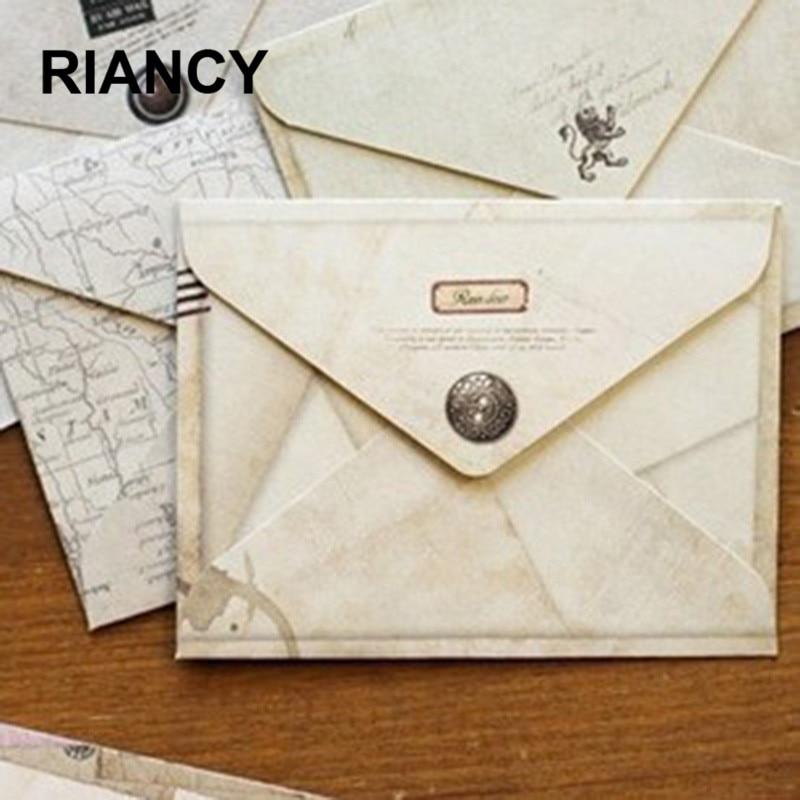 12 Pieces/lot  Mini Cute Ancien Paper Envelope Retro Vintage European Style For Card Scrapbooking Gift 03210