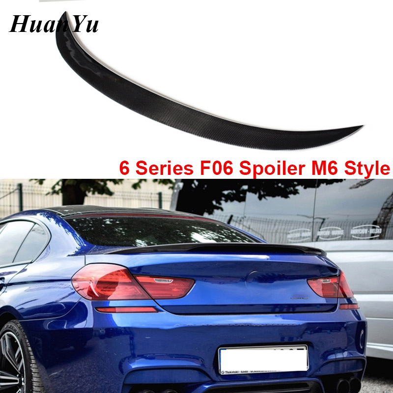<font><b>F06</b></font> M6 Style Carbon Fiber Trunk <font><b>Spoiler</b></font> for <font><b>BMW</b></font> 6 Series <font><b>F06</b></font> Gran Coupe 4-door Rear Ducktail Duck Tail Lip Wings 2012+ 640i 650i image