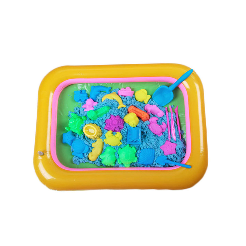 New Inflatable Sand Tray PVC Sandbox Table Beach Sandbox Tray Fun Play Toys