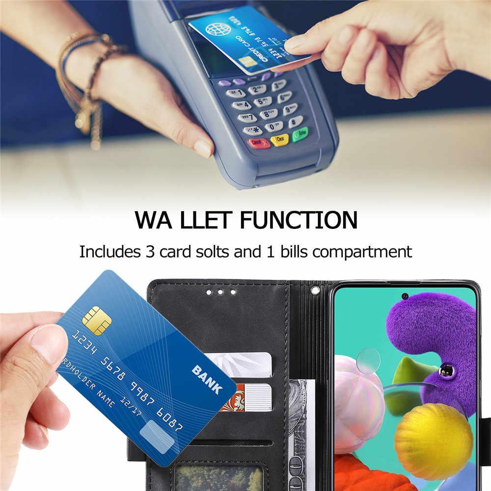 Estojo de couro Para Samsung Galaxy A51 A71 A81 A91 A01 A11 A21 A31 A41 A50 A70 A20E A30 A10 S A40 Note10 S10 Lite Virar Capa Carteira