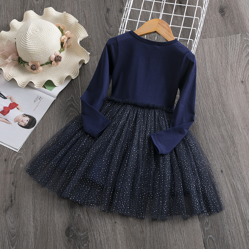 H04f84c8778ef42d982b9de8799cf429ce Red Kids Dresses For Girls Flower Lace Tulle Dress Wedding Little Girl Ceremony Party Birthday Dress Children Autumn Clothing